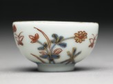 Miniature cup with flowers and butterflies (side)