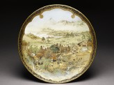 Dish with landscape using westernized perspective
