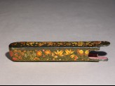 Case from a qalamdan, or pen box, with floral decoration