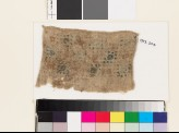 Textile fragment with squares, probably from a sash
