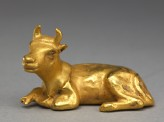 Gold figure of a bull