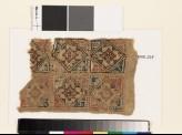 Textile fragment with squares, diamond-shapes, and quatrefoils (EA1993.225)