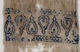 Textile fragment from a scarf or girdle end with hearts