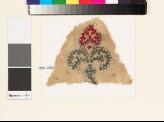 Textile fragment with fleur-de-lys and linked crosses (EA1993.237)