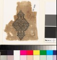 Textile fragment with lozenge-shaped medallion