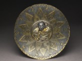Lobed dish with a Chinese warrior