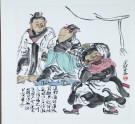 Liu Bei sending Zhang Fei to fight against Ma Chao