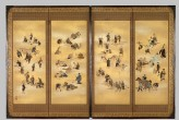 Screen depicting the four classes of Edo Japan (EA1995.87)
