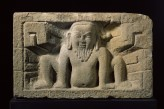 Stone slab with yaksha, or nature spirit, in relief (EA1995.95)