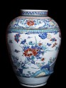 Misshapen baluster jar with flowers (EA2000.19)