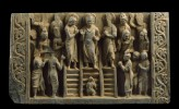 Relief depicting the Buddhas descent from the Heaven of the Thirty-three gods