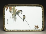 Tray with two sparrows on a branch (EA2000.50)