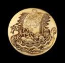 Manjū netsuke with a takarabune, or treasure ship