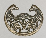Talismanic plaque, or tokcha, with confronted horses (EA2001.154)
