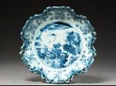 Tripod dish in the form of European Baroque silverware