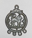 Talismanic plaque, or tokcha, with hybrid animal (EA2002.3)
