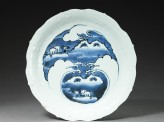 Dish with mandarin ducks amid waves (EA2003.3)
