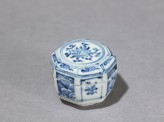 Octagonal lidded box (oblique)