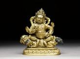 Figure of Vaishravana on a lion