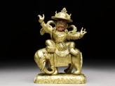 Figure of Mahapacharya on an elephant