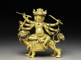 Figure of Dam can Dorje legs pa on a lion