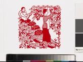Women harvesting cherries