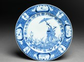 Plate with 'Parasol Lady' design (EA2008.64)