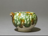 Jar with spout and three-colour glaze
