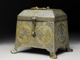 Casket with figural decoration