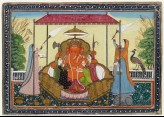 Ganesha with his wives and attendants