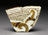 Fragment of polychrome lustreware (front)