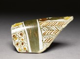 Fragment of polychrome lustreware
