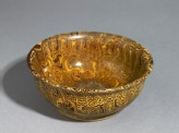Bowl with marbled decoration (oblique)