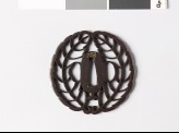 Tsuba with mon crest of the Hachisuka family