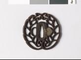 Tsuba with mon crest of the Hori of Iida family (EAX.10022)