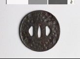 Tsuba with chrysanthemum and plum blossoms (EAX.10093)