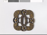 Tsuba with foliated stems and star shapes (EAX.10117)