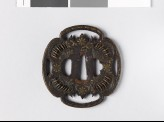 Mokkō-shaped tsuba with star and leaf forms (EAX.10179)