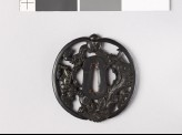 Tsuba with a hare, dragon, and tiger (EAX.10212)