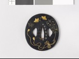 Tsuba with a Chinese fan and butterflies (EAX.10216)