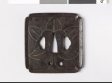 Tsuba with leaves (EAX.10250)