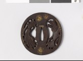 Tsuba with noshi, or auspicious abalone (EAX.10252)