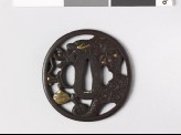 Tsuba with dragon and sacred pearl (EAX.10255)