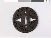 Round tsuba with flying phoenixes (EAX.10272)