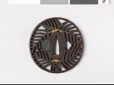Tsuba with warabi, or bracken fronds (EAX.10288)