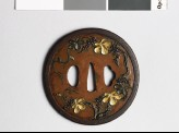 Tsuba with flowering vine (EAX.10296)