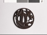Tsuba with tree and hornet