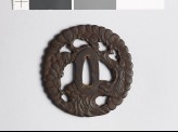 Tsuba in the form of a gnarled pine tree