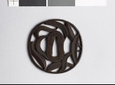Tsuba with palm leaves (EAX.10427)