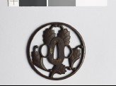 Tsuba with myōga, or ginger shoots (EAX.10435)